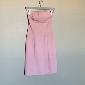 Le chateau pink strapless Y2K minidress size small